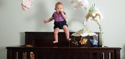 toddler climbing crib