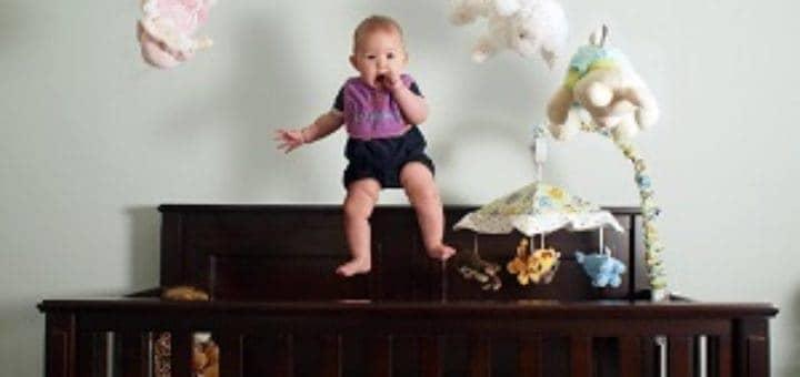 toddler climbing crib