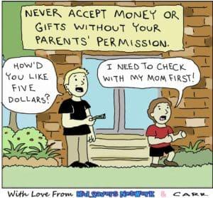 A stranger offers money