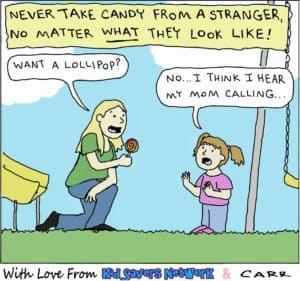 stranger offers candy