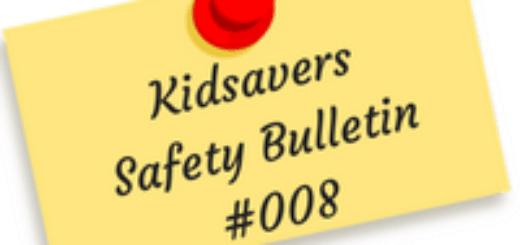 Kidsavers Weekly Safety Bulletin 8
